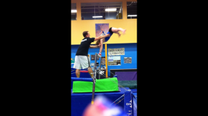 """""""High"""" Height Straddle Back Spot - Note Grabbing at Center of Mass"""