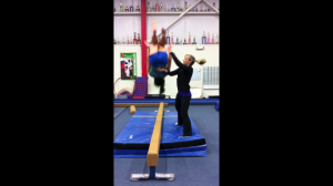 Squatting Technique Back Tuck (During) - Note Leg Use and Being Close To Athlete