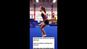 Single Leg Jump End - Side View