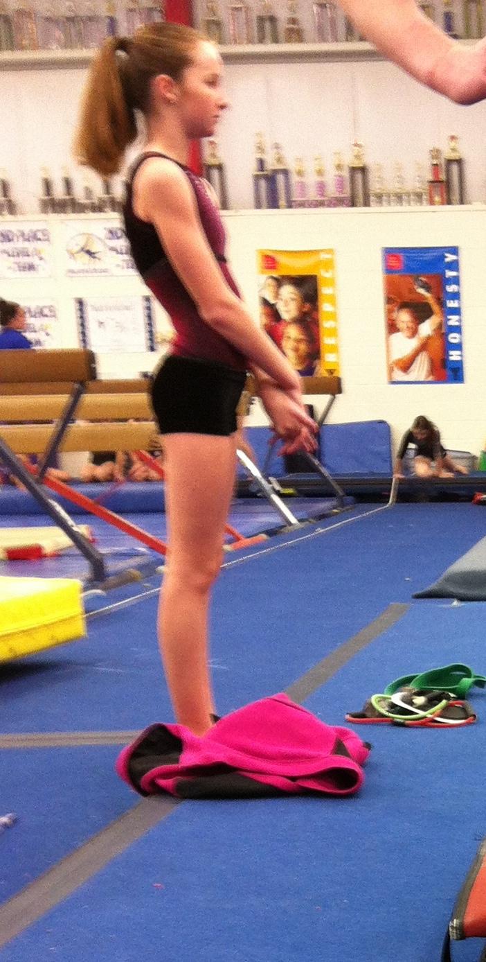 Girls gymnastics butt #10