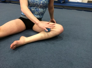 medial Soleus soft tissue release with lacrosse ball