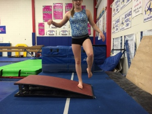 Single Leg Hold with springboard - inside of foot towards bottom of board
