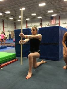 Rotational 1/2 Kneeling Dowel Drill Position - Front