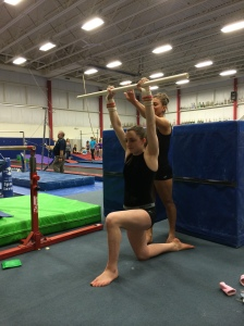 Overhead Reflexive Stability Drill With Dowel - Back Tapping