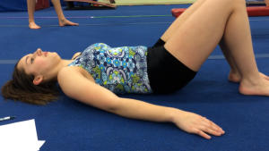 Improper Core Engagement - Note Pelvis Rotates Back, and Gymnast Was Holding Breath