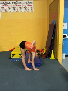 Standing Right Sided Pike Test for Hamstring Flexibility