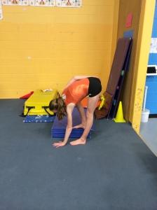 Standing Left Sided Pike Test for Hamstring Flexibility
